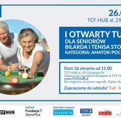 I Otwarty Turniej dla Seniorów w bilarda i tenisa stołowego